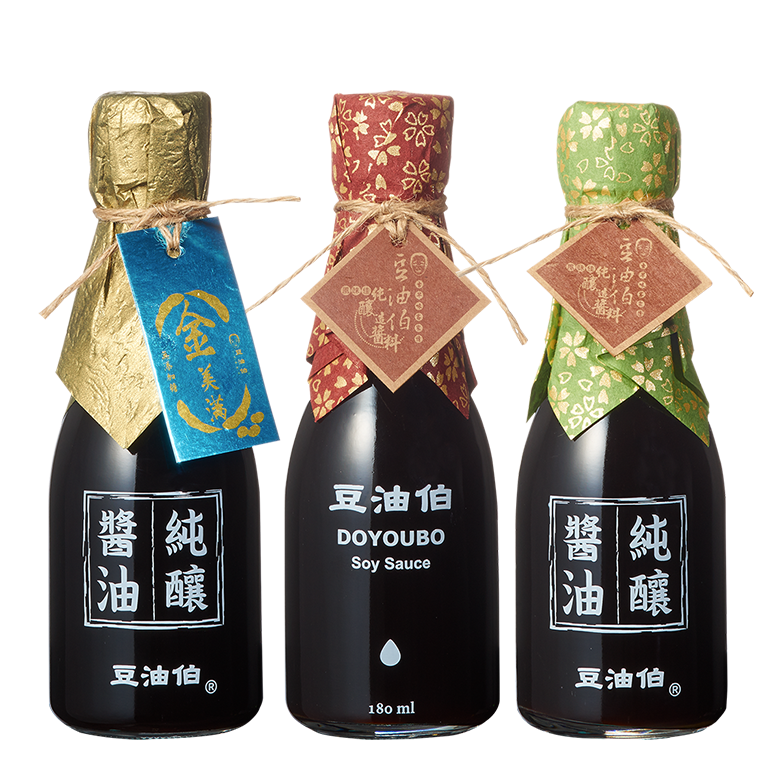 健康小醬油180ml3入組(缸底醬油+甘田薄鹽醬油+金美滿無添加糖醬油)