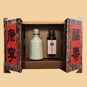 福壽康寧禮盒組(五花瓶+100ml缸底醬油)
